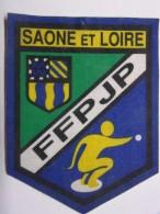 Ecusson Tissu - SAONE ET LOIRE - FFPJP - PETANQUE - Blason - Armoiries - Département 71 - Pétanque