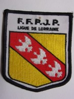 Ecusson Tissu - FFPJP - PETANQUE - Ligue De LORRAINE - Blason - Armoiries - Pétanque