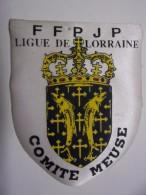 Ecusson Tissu - Ligue De LORRAINE - Comité MEUSE - FFPJP - PETANQUE - Blason - Armoiries - Pétanque
