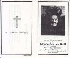 Catherine Emerence Baert (1848-1955) ~ 107 Jaar - Images Religieuses