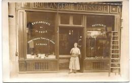 DEVANTURE DE MAGASIN - BOULANGERIE PATISSERIE - CARTE PHOTO Non Située - Geschäfte