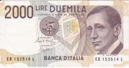 BILLETE DE ITALIA DE 2000 LIRAS DEL AÑO 1990  MARCONI CALIDAD EBC (XF)  (BANKNOTE) - [ 2] 1946-… : República