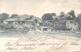SINGAPORE SINGAPUR CPA COUNTRY SCENERY RARISIME CPA CIRCULEE 1905 A NANTERRE FRANCE TIMBRE ARRACHE - Singapore
