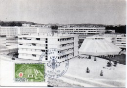 Carte Postale 1er Jour + TIMBRE -  92 CHATENAY MALABRY - école Centrale  1969 - Chatenay Malabry