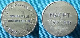 03374 GETTONE TOKEN JETON NACHT-TRESOR STADTSPARKASSE MAINZ ZWEIGSTELLE BISCHOFSEN - Zonder Classificatie