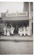 Devanture De MAGASIN - BOUCHERIE NORMANDE -  CARTE PHOTO Non Située - Geschäfte