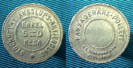 03361 GETTONE TOKEN JETON SWEDEN TRANSPORT STOCKHOLS ANSSLUOPS AKTIEBOLAG ENKEL RESA - Jetons En Medailles
