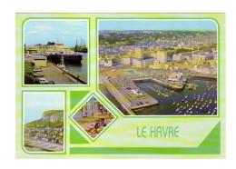 Le Havre: Terminal Car Ferries, Vue Generale, Cap De La Heve, La Plage (16-770) - Le Havre
