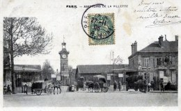 75 PARIS Abattoirs De La Villette TRES Animée Carte Précurseur - Arrondissement: 19