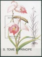 Sao Tomé Und Príncipe 1991 Blumen Block 261 Postfrisch (C26358) - Sao Tome And Principe