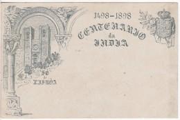LISBOA (Portugal) CARTE ENTIER POSTAL ILLUSTREE (AU DOS) DU CENTENARIO DA INDIA-Stamp 20 Reis- 1898 - Entiers Postaux