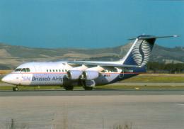 AK Flugzeug Belgien België Brussels Airlines SN BEL BEELINE AVRO RJ85 OO-DJN Brussel BE Diegem Machelen Belgique Belgium - 1946-....: Era Moderna