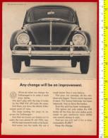 B-20253 Car VOLKS WAGEN December 1964. Original Advertising AD By US Magazine. - Advertising