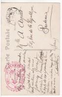 HONFLEUR (Calvados) Cachet-Tampon Militaire Hôpital Auxiliaire -Union Des Femmes De France-Calvaire Au Verso- 2 SCANS - Marcophilie (Lettres)