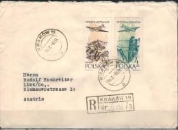 POLEN 1963 - Rekobeleg Mit  MiNr: 1037+1039 - Covers & Documents