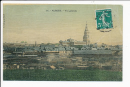 Carte Toilée Et Colorisée  D' Albert ( Recto Verso ) état Moyen - Albert