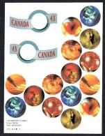 1994   $0.43  Greeting Booklet  Sc 1507-8  - BK 166 - Full Panes