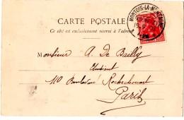 MONTOIS-la-MONTAGNE (57) KR METZ. 1903. ALSACE- LORRAINE SUR C.P. BERGERET ( LES JEUX ) LE JACQUET. - Storia Postale