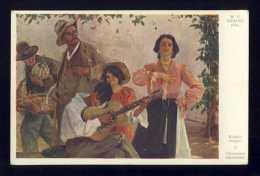 Carte Postale Illustree: W.V.Krausz Pinx. Chanterus Ambulants (Galerie Wiener Kunstler 37) (108690) - Illustratori & Fotografie