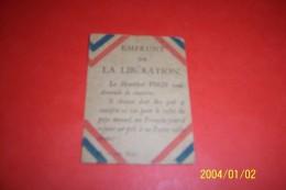 10 Emprunt De La Liberation  ) Demande De Soussouscrire Du Marechal Foch  ( Identiques ) - Documents Historiques