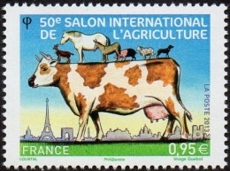 France N° 4729 ** Salon De L'agriculture - Vache Laitière, Chevaux, Ane, Mouton, Chèvre .... - France