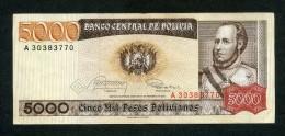 """BOLIVIA BILLETES 1984: """"5000 BOLIVIANOS"""" - Bolivië"""