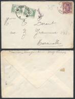 CP983 Lettre Taxée De Verviers à Charleroi 1940 - Belgique