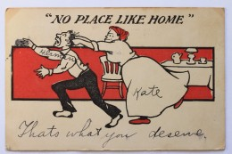 NO PLACE LIKE HOME Comic Humor Postcard - Marriages