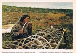PHOTO-CONSTRUCTION D´un KAYAK Dans Le NORD CANADIEN--La Documentation Photographique 1957-Format 30 X 24 - Reproducciones
