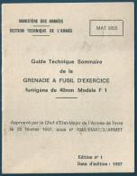 Guide Technique De La Grenade à Fusil D'Exercice De 40 Mm Modèle F1 - 1967 - Français
