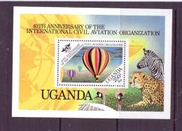 OUGANDA-UGANDA  1984 BALLONS-ICAO  YVERT N°B NEUF MNH** - Montgolfier