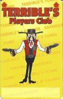 Terrible´s Casino Las Vegas, NV - 1st Issue Slot Card - Text Under Signature Box (BLANK) - Casino Cards