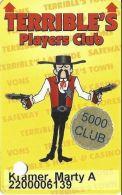 Terrible´s Casino Las Vegas, NV - 1st Issue Slot Card - Text Under Signature Box - 5000 Club - Casino Cards