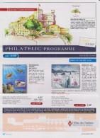 Monaco Brochure About Stamps In 2016 - 1st Part - Sea Turtles - Block MonacoPhil 2016 - Storia Postale