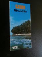 Gabon Libreville UTA (1969 ?) 12 X (10 X 21 Cm), Ed. Hoa-Qui - Dépliants Touristiques