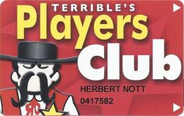 Terrible´s Casino Las Vegas/Pahrump, NV - Slot Card - Single Logo On Reverse - Casino Cards