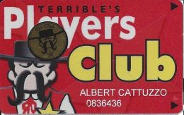 Terrible´s Casino Multiple Locations - Slot Card - Multiple Logos On Reverse - 50+ Club - Casino Cards