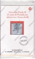 GIOVANNI PAOLO II°- 25° DI PONTIFICATO LA BOLAFFI PROPONE FRANCOBOLLI DEL BENIN-GUINEE-GAMBIA IN LAMINA ARGENTATA-N° 19- - Andere