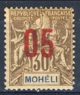 Moheli 1912 N. 19 C. 05 Su C. 30 Bruno MH Catalogo € 2,40