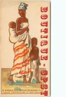 CHROMO SIROP GADUASE à DECOUPER - FEMME SENEGALAISE Avec Ses ENFANTS - AFRIQUE < DOS DETAIL Sur Le PAYS