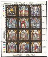 Guernsey: Vetrate Religiose, Vitrail Religieux, Religious Stained Glass, Foglietto, Block, Bloc - Vetri & Vetrate