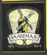 ESTONIA Estland Beer Label Wind Mill SAAREMAA X - Beer