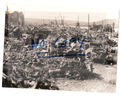 Photo Originale ROUEN WW2 - BOMBARDEMENT  1944 , DESTRUCTION ARMEE ALLEMANDE  Sur Les QUAIS  - Guerre 39/45 - Guerre, Militaire