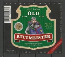 ESTONIA Estland Beer Label RITTMEISTER - Bier