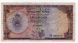 PEU COMMUN  1/2 Pounds  Vers 1958 - Libye