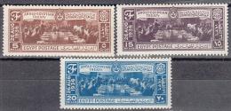 Egypt   Scott No. 203-5      Unused Hinged     Year  1936 - Egypt
