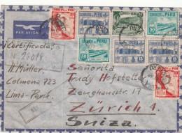 Peru / Airmail / Switzerland / Jusqu ' A Marks / U.S. - Perù