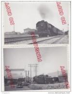 Au Plus Rapide Locomotive Train Passage à Niveau Voiture Ancienne Renault - Trains