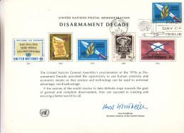 Nations Unies - Document De 1973 ° - Désarmement - Bombe Atomique - Cachet De New York - Lettres & Documents