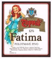 Topvar Fatima Polotmavé Pivo - Slovakije   -  Bieretiket  -  étiquette De Bière - Beer Label - Beer